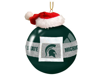 "Michigan State Spartans Memory Company 3"" Glass Santa Belt Ornament"