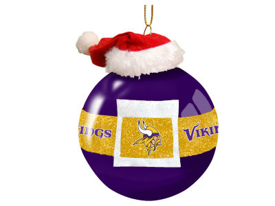 "Minnesota Vikings 3"" Glass Santa Belt Ornament"