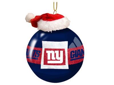 "New York Giants Memory Company 3"" Glass Santa Belt Ornament"