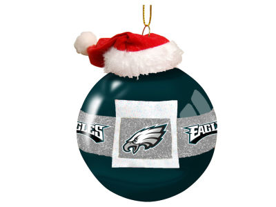 "Philadelphia Eagles Memory Company 3"" Glass Santa Belt Ornament"