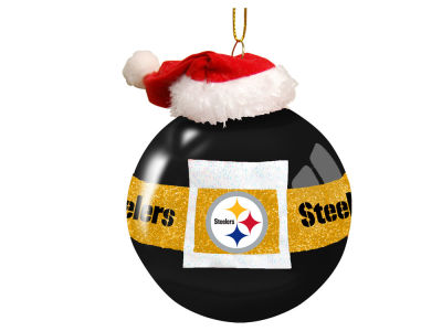 "Pittsburgh Steelers 3"" Glass Santa Belt Ornament"