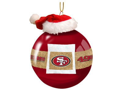 "San Francisco 49ers Memory Company 3"" Glass Santa Belt Ornament"