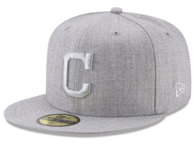 Cleveland Indians New Era MLB Pure Silver 59FIFTY Cap