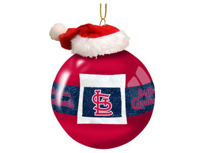 "St. Louis Cardinals Memory Company 3"" Glass Santa Belt Ornament"
