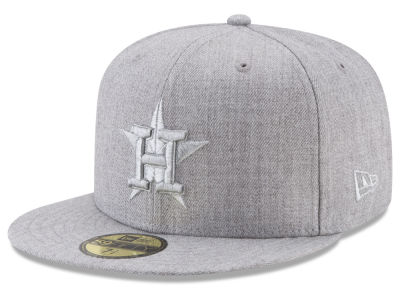 Houston Astros New Era MLB Pure Silver 59FIFTY Cap