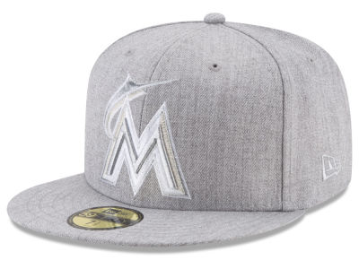 Miami Marlins New Era MLB Pure Silver 59FIFTY Cap