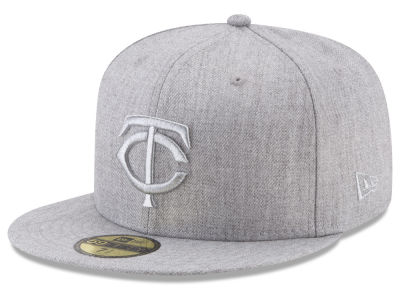 Minnesota Twins New Era MLB Pure Silver 59FIFTY Cap