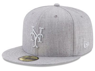 New York Mets New Era MLB Pure Silver 59FIFTY Cap