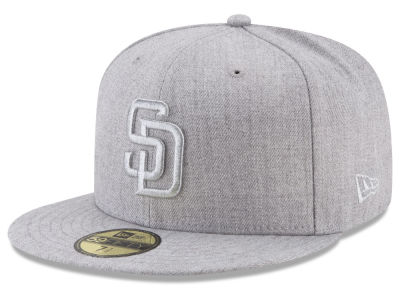 San Diego Padres New Era MLB Pure Silver 59FIFTY Cap