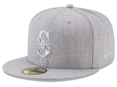 Seattle Mariners New Era MLB Pure Silver 59FIFTY Cap