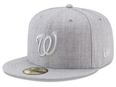 Washington Nationals New Era MLB Pure Silver 59FIFTY Cap