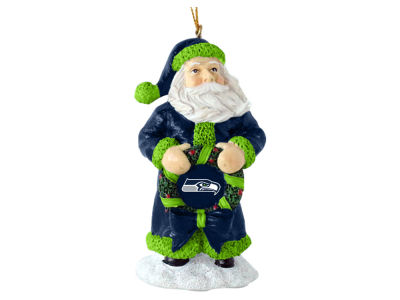 Seattle Seahawks Classic Santa Ornament