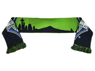 Seattle Sounders FC MLS Split Crest Skyline Scarf