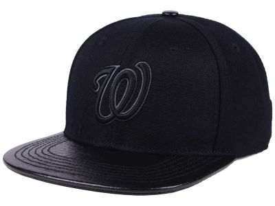 Washington Nationals Pro Standard MLB Black on Black Strapback Cap