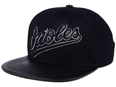 Baltimore Orioles Pro Standard MLB Black and White Strapback Cap