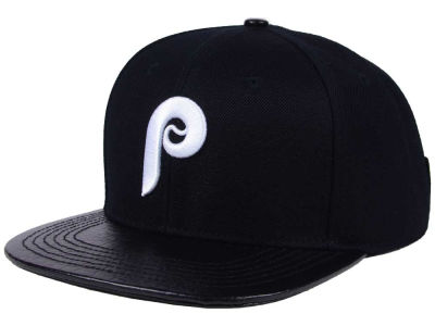 Philadelphia Phillies Pro Standard MLB Black and White Strapback Cap