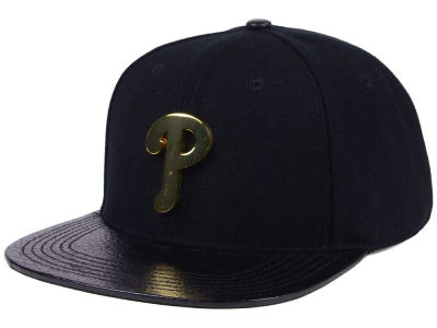 Philadelphia Phillies Pro Standard MLB Metal Black Stapback Cap