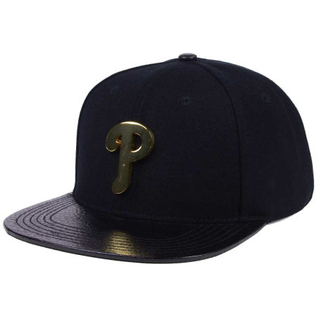 Philadelphia Phillies Pro Standard MLB Metal Black Stapback Cap