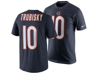 Chicago Bears Mitchell Trubisky Nike NFL Men's Pride Name and Number T-Shirt