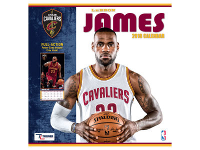Cleveland Cavaliers NBA 12x12 Player Wall Calendar