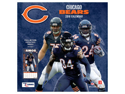 Chicago Bears MLB 12x12 Team Wall Calender