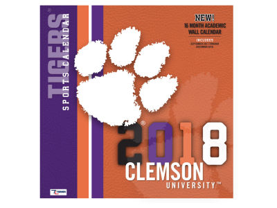 Clemson Tigers MLB 12x12 Team Wall Calender