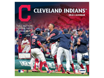 Cleveland Indians MLB 12x12 Team Wall Calender