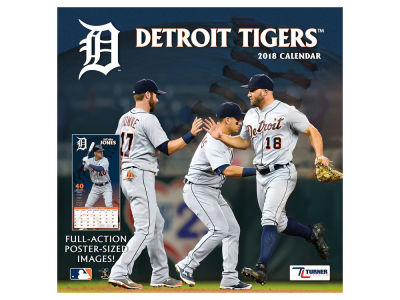 Detroit Tigers MLB 12x12 Team Wall Calender