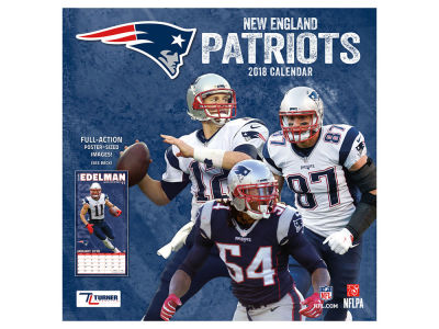 New England Patriots MLB 12x12 Team Wall Calender