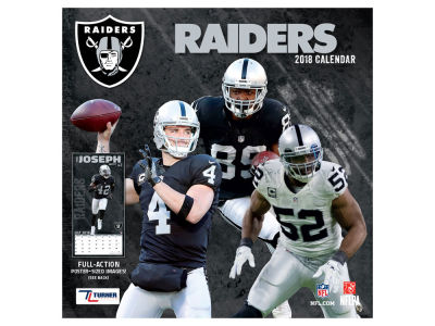 Oakland Raiders MLB 12x12 Team Wall Calender