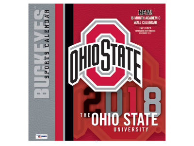 Ohio State Buckeyes MLB 12x12 Team Wall Calender