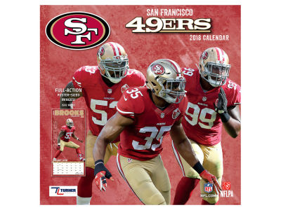 San Francisco 49ers MLB 12x12 Team Wall Calender