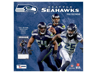 Seattle Seahawks MLB 12x12 Team Wall Calender
