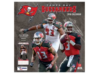 Tampa Bay Buccaneers MLB 12x12 Team Wall Calender