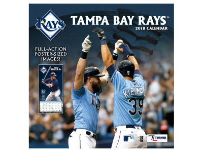 Tampa Bay Rays MLB 12x12 Team Wall Calender