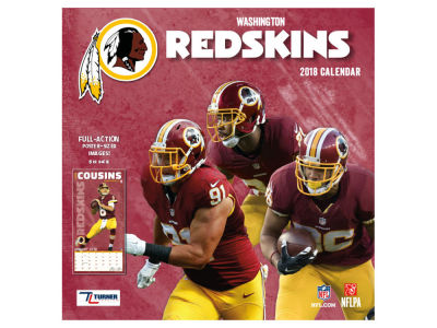 Washington Redskins MLB 12x12 Team Wall Calender