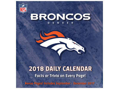 Denver Broncos Box Calendar