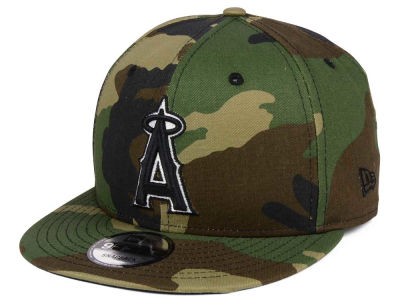 Los Angeles Angels New Era MLB Woodland Black/White 9FIFTY Snapback Cap