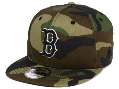 Boston Red Sox New Era MLB Woodland Black/White 9FIFTY Snapback Cap