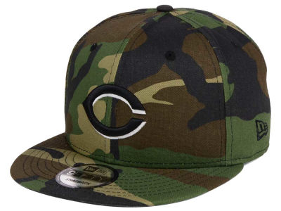 Cincinnati Reds New Era MLB Woodland Black/White 9FIFTY Snapback Cap
