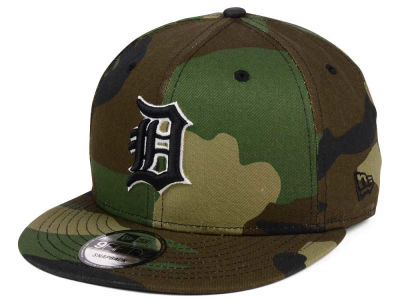 Detroit Tigers New Era MLB Woodland Black/White 9FIFTY Snapback Cap