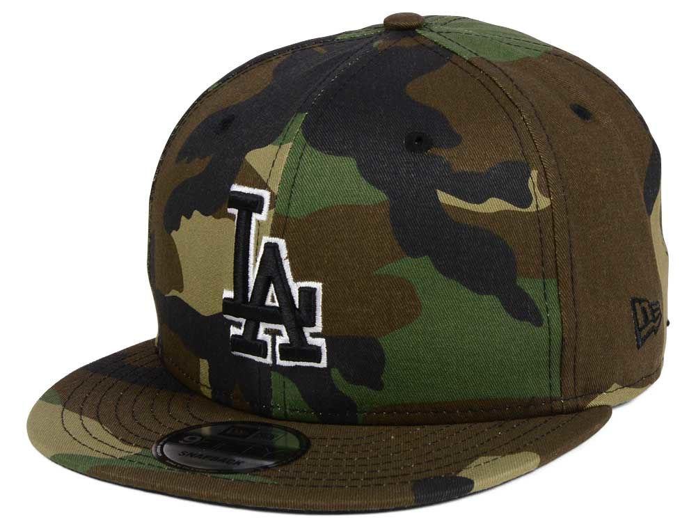 Los Angeles Dodgers New Era MLB Woodland Black White 9FIFTY Snapback Cap  432495b41ee0