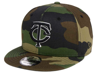 Minnesota Twins New Era MLB Woodland Black/White 9FIFTY Snapback Cap
