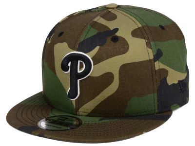 Philadelphia Phillies New Era MLB Woodland Black/White 9FIFTY Snapback Cap