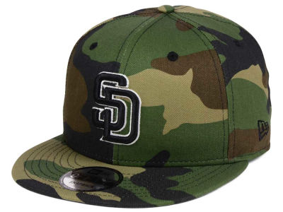 San Diego Padres New Era MLB Woodland Black/White 9FIFTY Snapback Cap