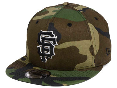 San Francisco Giants New Era MLB Woodland Black/White 9FIFTY Snapback Cap