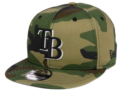 Tampa Bay Rays New Era MLB Woodland Black/White 9FIFTY Snapback Cap
