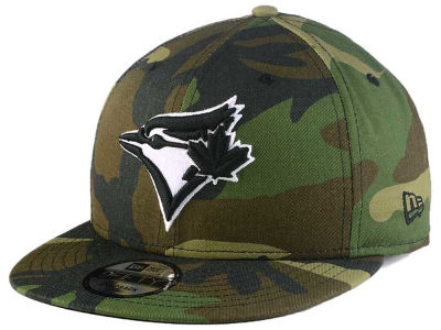 Toronto Blue Jays New Era MLB Woodland Black/White 9FIFTY Snapback Cap