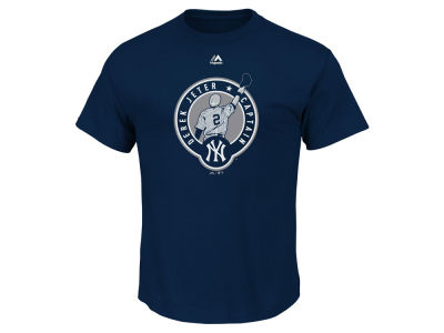 New York Yankees Derek Jeter Majestic MLB Men's Big and Tall Commemorative Logo T-Shirt