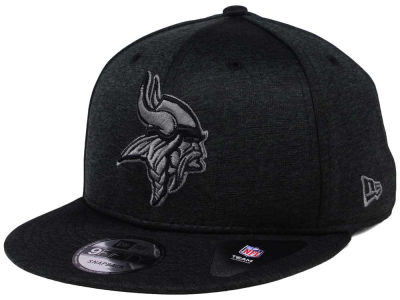 Minnesota Vikings New Era NFL Shadow Black Graph 9FIFTY Snapback Cap